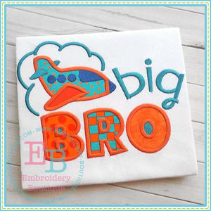 Big Bro Plane Applique