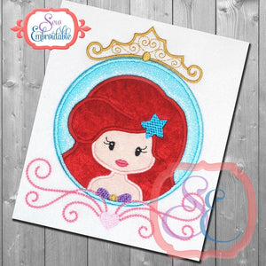 Princess Circle 4 Applique - embroidery-boutique
