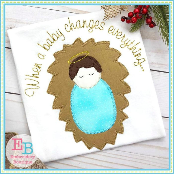Baby Changes Applique - embroidery-boutique