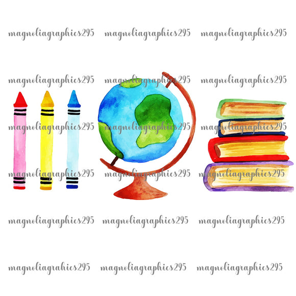 Back to School Printable Design PNG-Embroidery Boutique