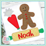 Baking Cookies Trio Zigzag Applique, Applique