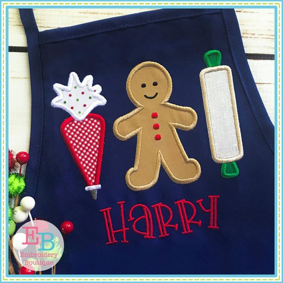 Baking Cookies Row Applique