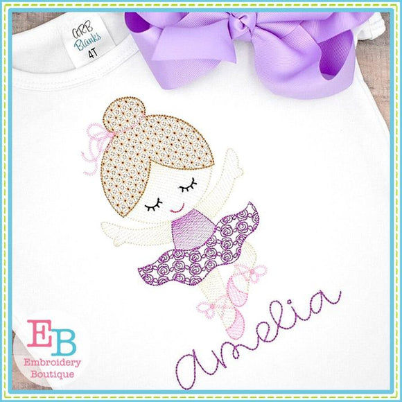 Little Ballerina 3 Motif Sketch Design