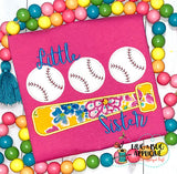 Bat Ball Trio Satin Stitch Applique, Applique