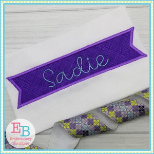 Banner Satin Applique