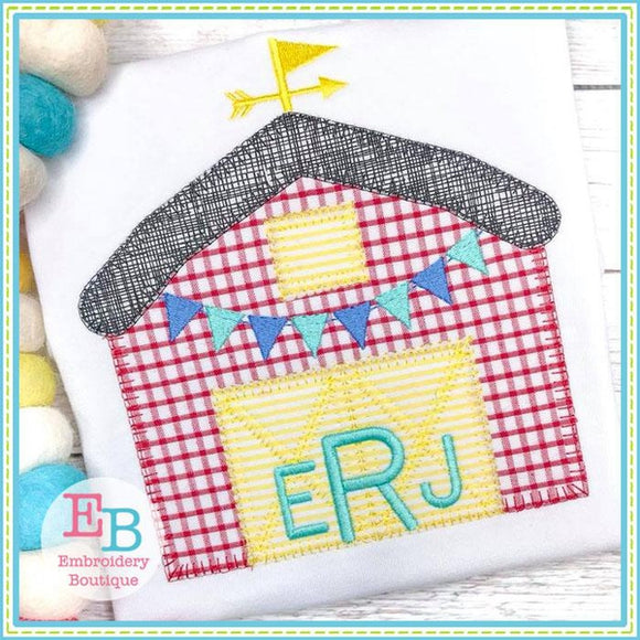 Barn Blanket Stitch Applique, Applique