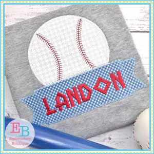 Baseball Banner Zigzag Applique