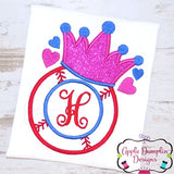 Baseball with Crown Applique Design, applique