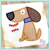 Baseball Charlie Dog Satin Applique-Embroidery Boutique