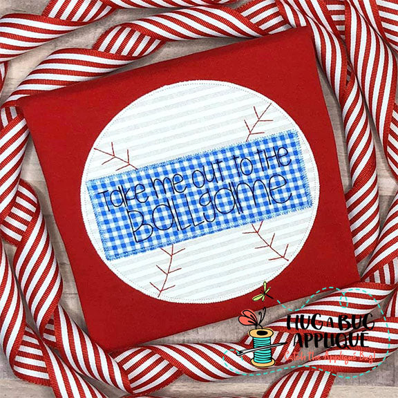 Baseball Box Zig Zag Stitch Applique
