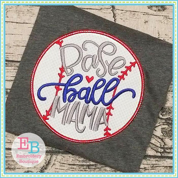 Baseball Mama Applique, Applique