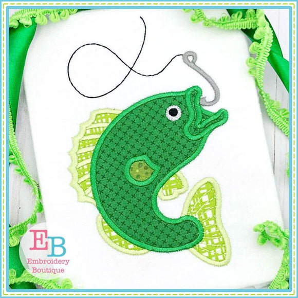 Bass Fish Applique, Applique