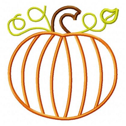 Fall Pumpkin Applique - embroidery-boutique