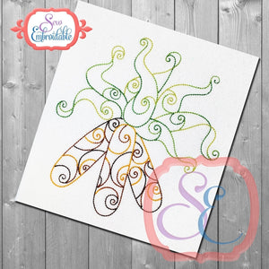 Corn Swirl Embroidery Design