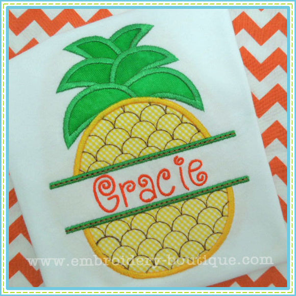 Split Pineapple Applique - embroidery-boutique