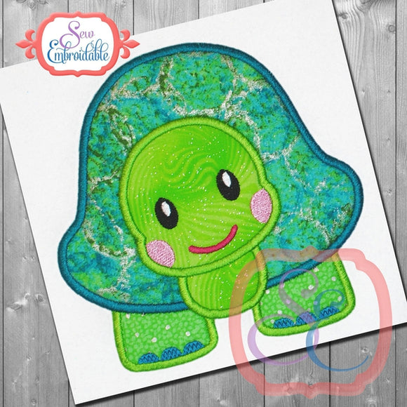 Timmy Turtle Applique - embroidery-boutique
