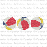 Beach Ball Trio Sketch Stitch Embroidery Design