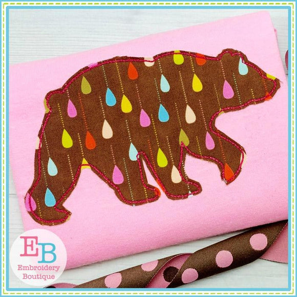 Bear Silhouette Applique, Applique