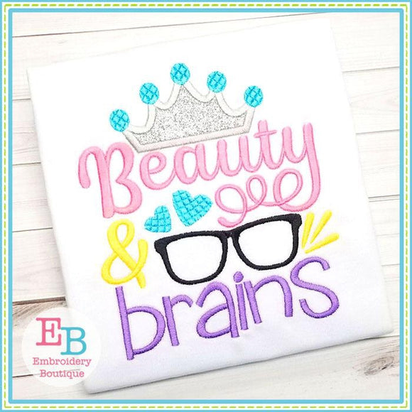 Beauty Brains Applique
