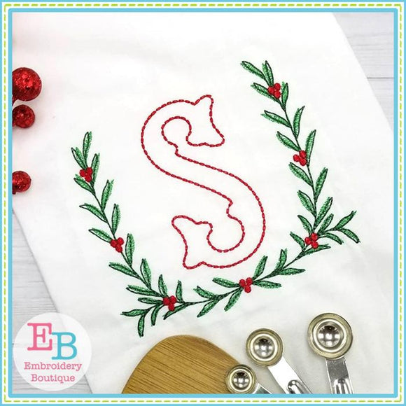 Berry Laurel Embroidery Design - Embroidery Boutique