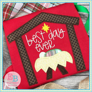 Best Day Ever Zigzag Applique