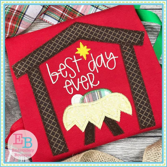 Best Day Ever Zigzag Applique, Applique
