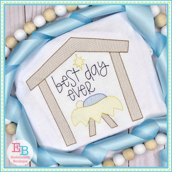 Best Day Ever Sketch Embroidery Design