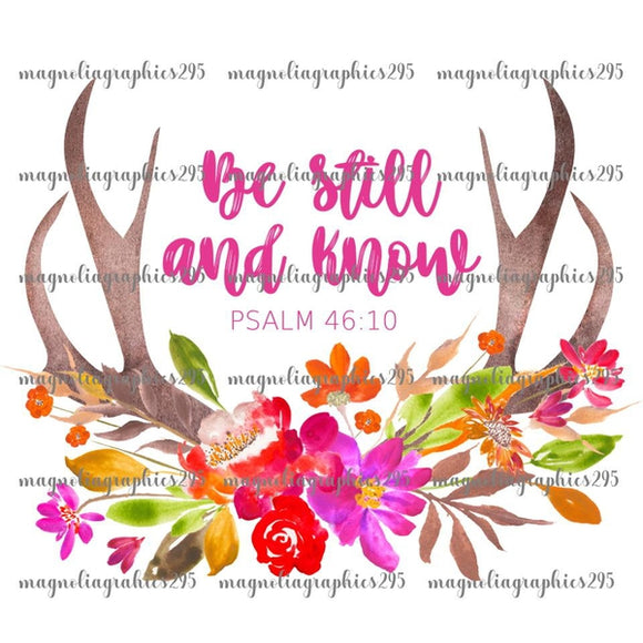 Be Still and Know Printable Design PNG, Printable