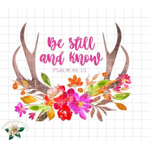 Be Still and Know Psalm 46:10 Printable Design - embroidery-boutique