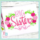 Big Sister Roses Embroidery Design