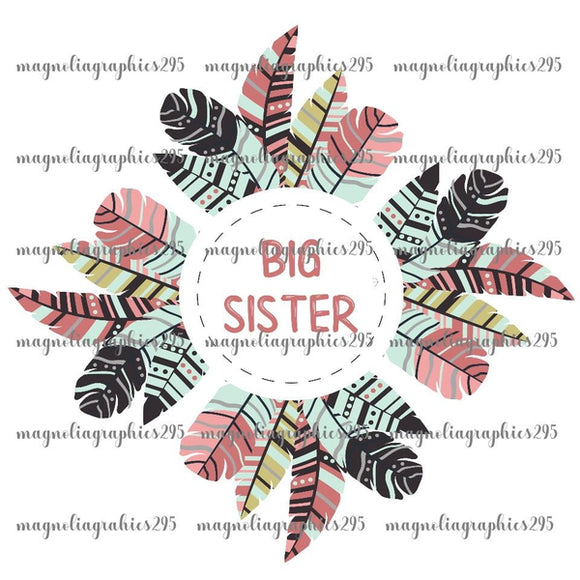 Big Sister Printable Design PNG, Printable