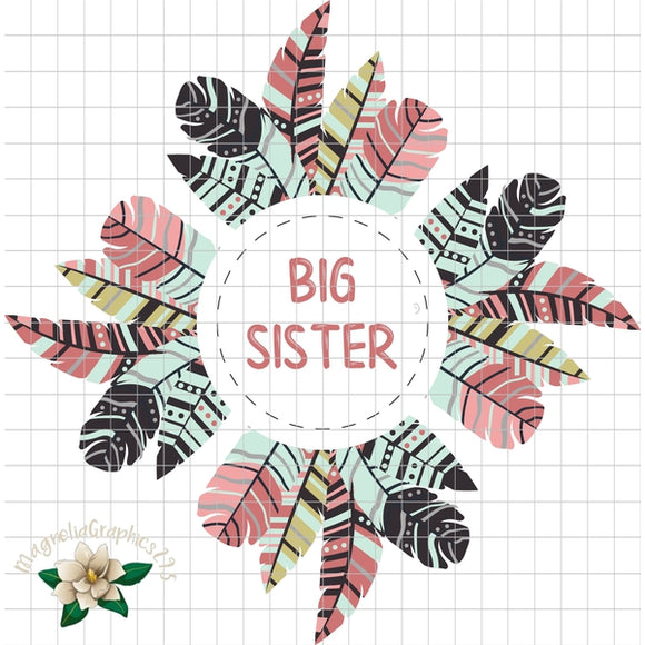 Big Sister Printable PNG Printable Design - embroidery-boutique