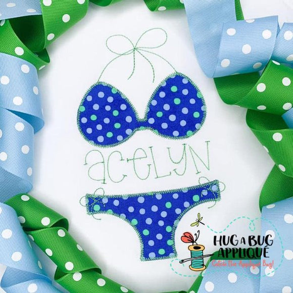 Bikini Zig Zag Stitch Applique Design-Embroidery Boutique