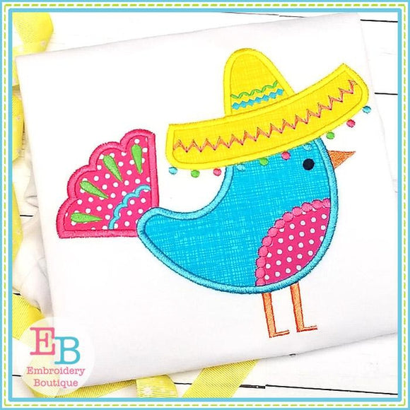 Bird Sombrero Applique