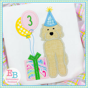 Birthday Doodle Satin Applique