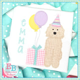 Birthday Doodle Zigzag Applique-Embroidery Boutique