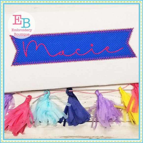 Banner Blanket Stitch Applique - Embroidery Boutique