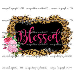Blessed Printable Design PNG, Printable