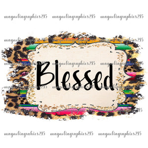 Blessed Printable Design PNG-Embroidery Boutique