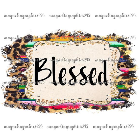 Blessed Printable Design PNG