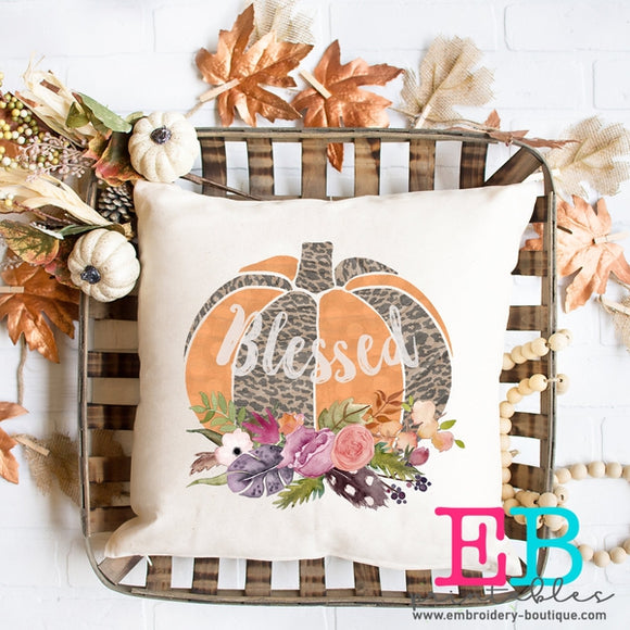 Pumpkin Floral Blessed Printable Design PNG - embroidery-boutique