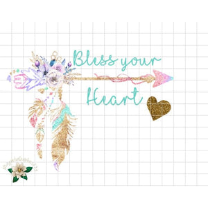 Bless Your Heart Printable Design - embroidery-boutique