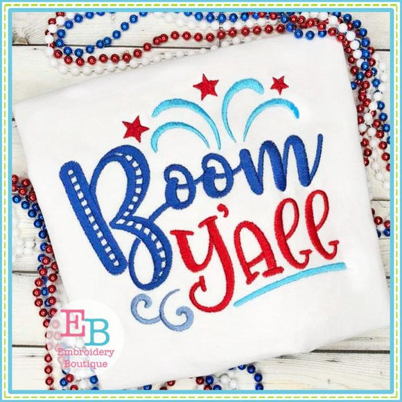 Boom Y'all Design, Embroidery