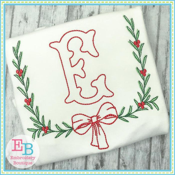 Bow Laurel Embroidery Design - Embroidery Boutique
