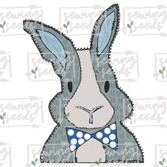 Boy BUNNY with Bow Tie Easter PNG SS, Printable