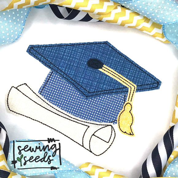 Graduation Hat and Diploma SS
