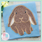Boy Bunny Long Ears Applique - embroidery-boutique