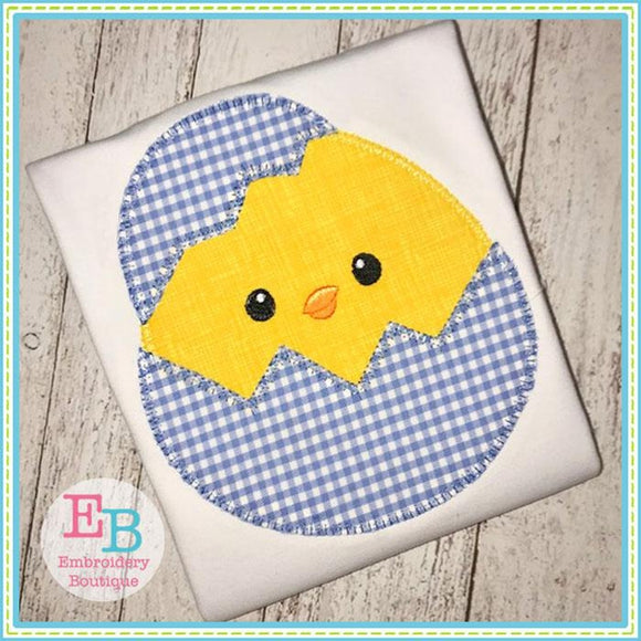 Egg Chick Blanket Stitch Applique, Applique