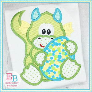 Dragon Boy Holding Egg Applique