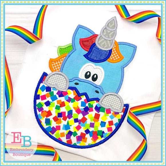 Unicorn In Egg Applique